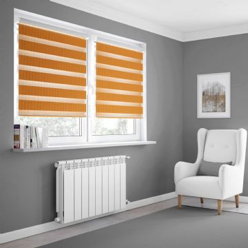 Orange Day and Night Blinds Made To Measure in Orange